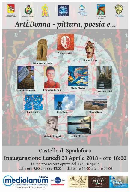 """La Mostra """"ArtÈDonna – pittura, poesia e…"""" nel Castello di Spadafora"""