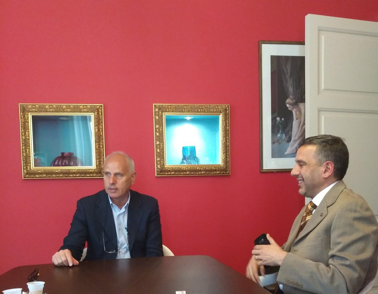 Elezioni a Messina. Incontro Dino Bramanti e delegato provinciale del Coni, Alessandro Arcigli