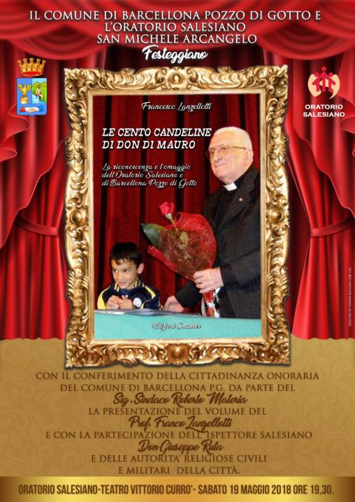 Barcellona PG. Festa per il centenario di Don Rodolfo Di Mauro e cittadinanza onoraria