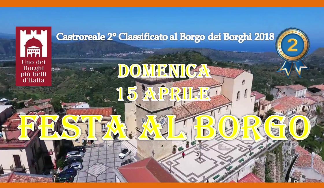 Castroreale. Festa al Borgo per il 2° posto al Borgo dei Borghi 2018