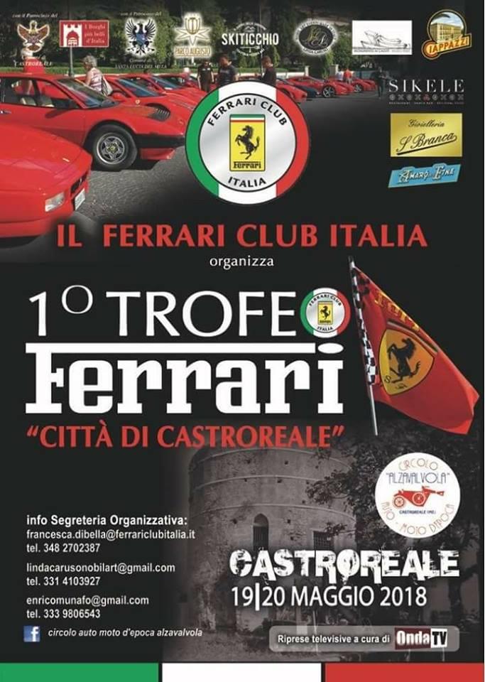Castroreale. Nel cuore del secondo borgo più bello d'Italia, 1° Trofeo Ferrari – Città di Castroreale