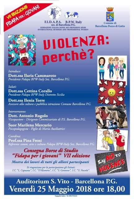 """Barcellona PG. La Fidapa BPW Italy organizza il Convegno """"Violenza: perché?"""" La consegna delle Borse di Studio"""