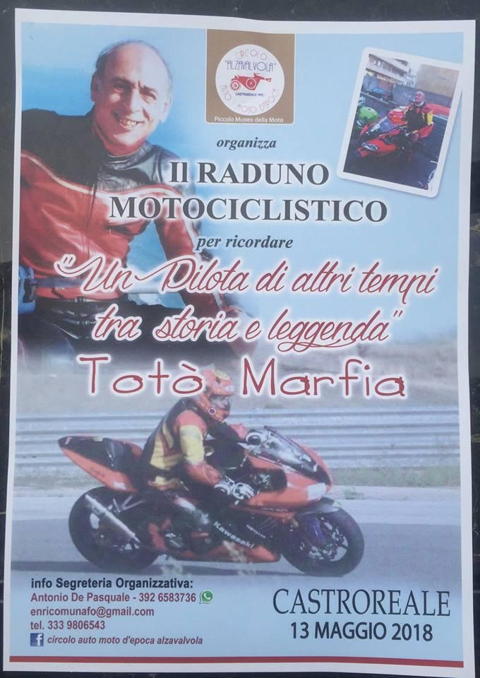 """Castroreale. Raduno Motociclistico per Totò Marfia: """"Tutti insieme per ricordare 'Un pilota d'altri tempi tra storia e leggenda"""""""