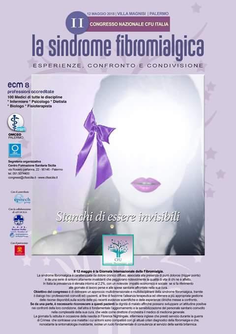 Oggi è la Giornata Mondiale della Fibromialgia. Convegno Nazionale CFU/Italia a Palermo