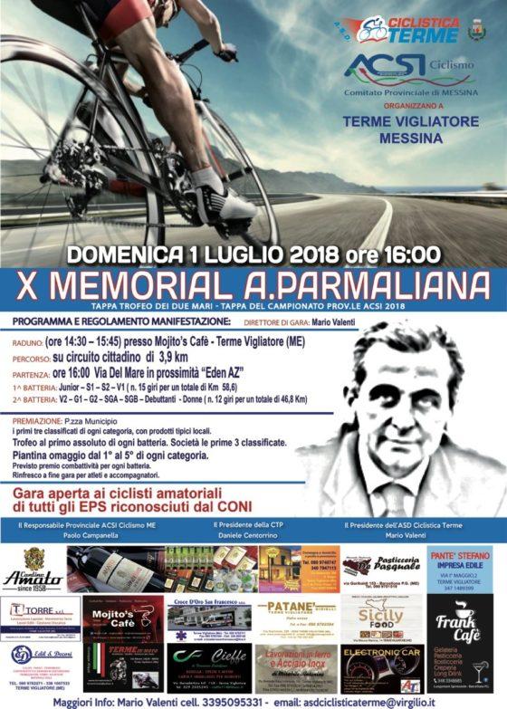 Terme Vigliatore. Ciclismo, domani il X Memorial Parmaliana
