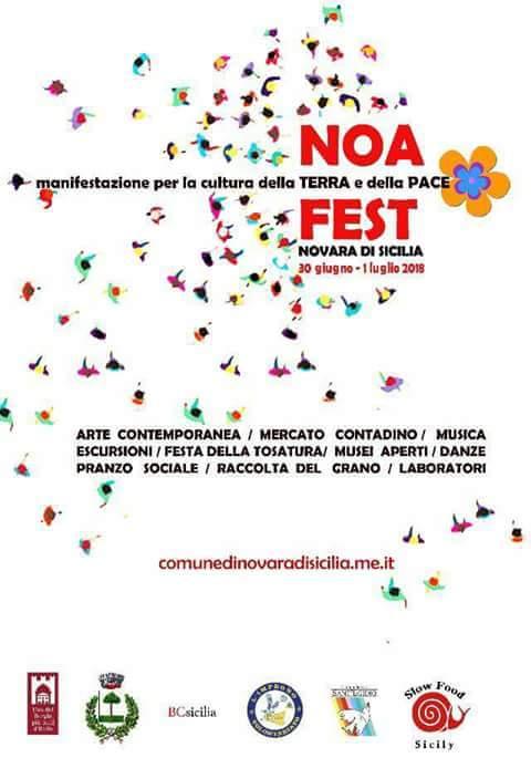 """Novara di Sicilia. La I edizione del """"NoaFest, manifestazione per la cultura della Terra e della Pace"""""""