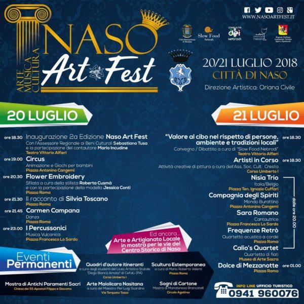 """Nebrodi tra Storia, Cultura e Tradizione, il 20 e 21 luglio 2018 è """"Naso Art Fest"""""""