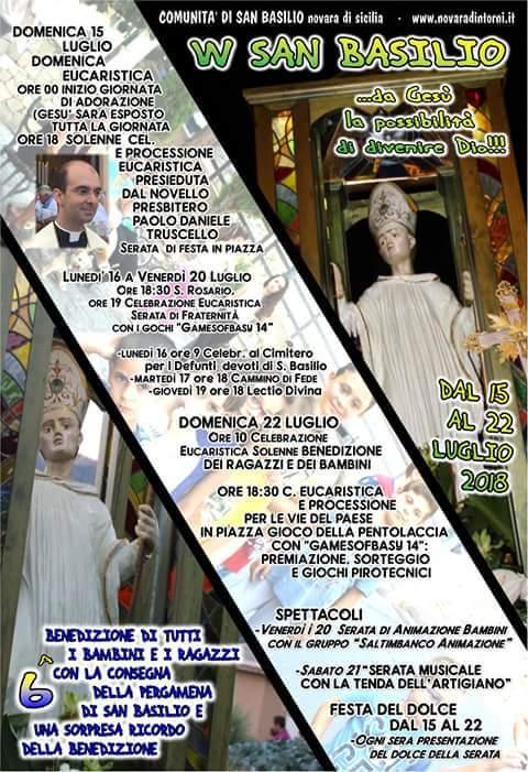 """Novara di Sicilia. La Festa di San Basilio 2018, eventi religiosi, civili e la II edizione della """"Tenda dell'Artigiano"""""""