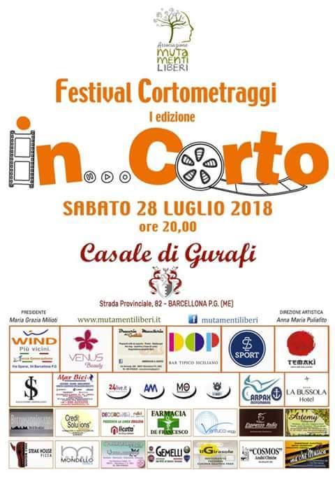 """Barcellona PG. Il I Festival dei Cortometraggi """"In… Corto"""" al Casale Gurafi"""