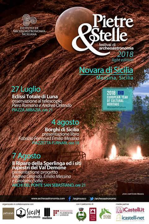 """Novara di Sicilia. Il Festival di Archeoastronomia 2018 """"Pietre&Stelle"""""""