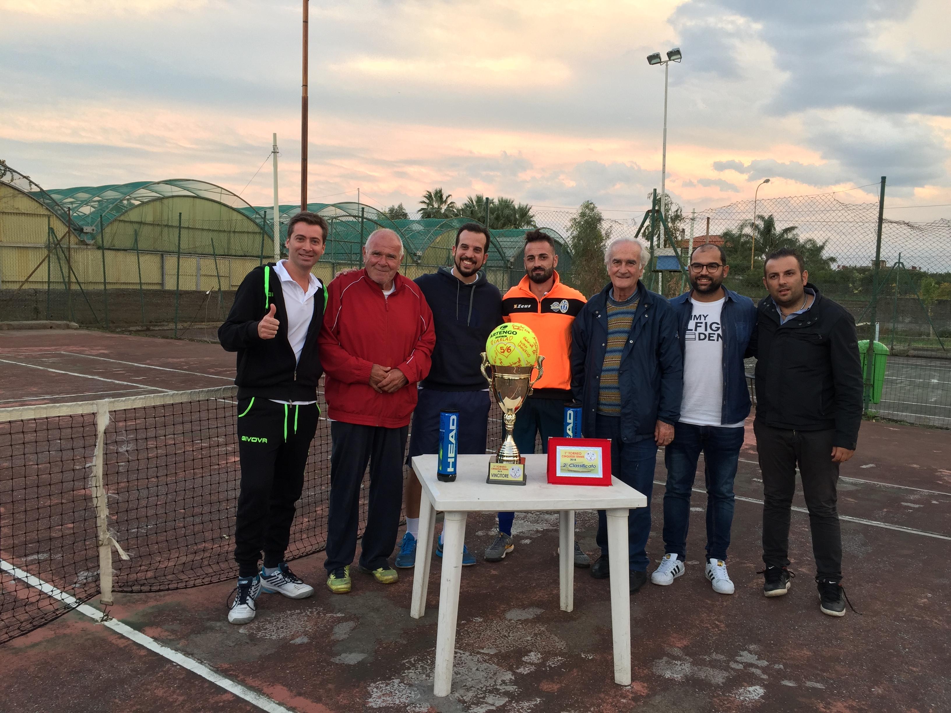 Terme Vigliatore. Successo per il 1° Torneo di Tennis Cinquesei, 30 partecipanti ieri la finale