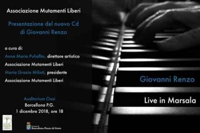 Barcellona PG. La presentazione del nuovo CD di Giovanni Renzo all'Auditorium Oasi