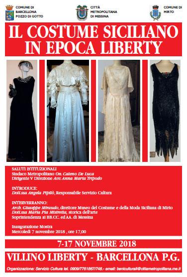 """""""Il Costume Siciliano in epoca Liberty"""" in mostra a Barcellona Pozzo di Gotto"""