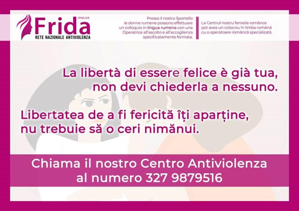 """Barcellona PG. Nuovo servizio offerto dal Centro Antiviolenza """"FRIDA ONLUS"""""""