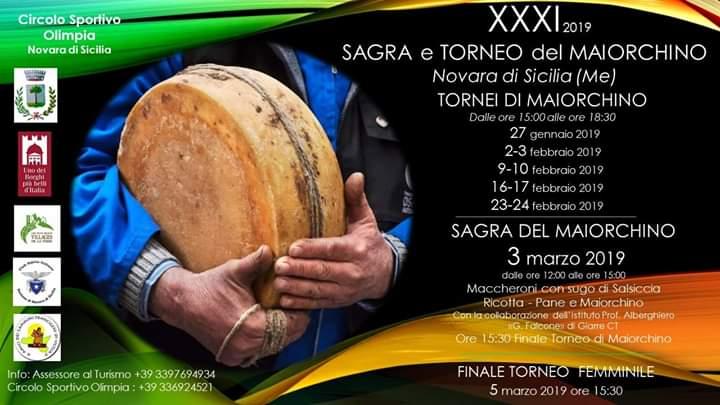Novara di Sicilia. La XXXI Sagra ed il Torneo del Maiorchino