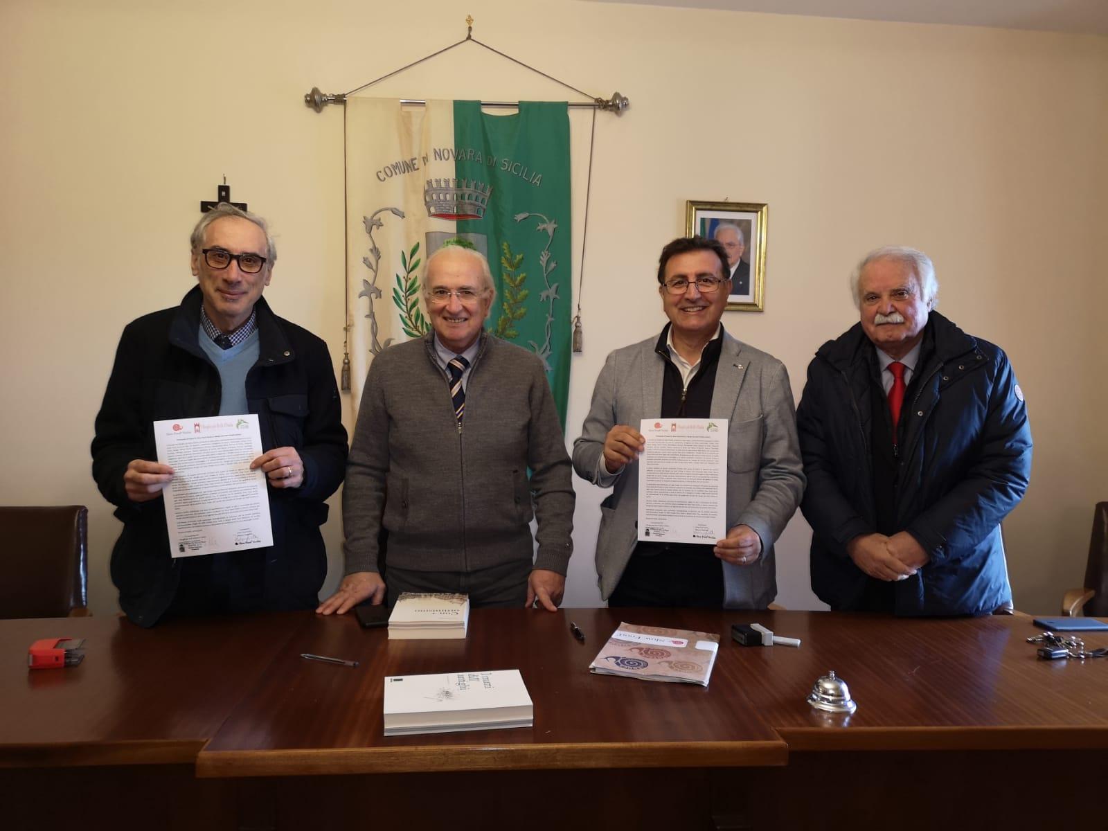 Novara di Sicilia. Firmato il Protocollo d'Intesa fra Slow Food Sicilia e i Borghi più belli d'Italia siciliani