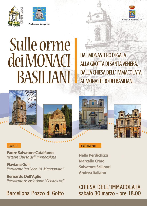 """Barcellona PG. Incontro """"Sulle orme dei Monaci Basiliani Chiesa dell'Immacolata"""""""