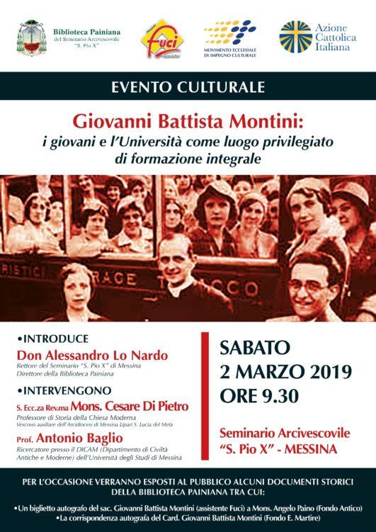 Seminario Arcivescovile S. Pio X di Messina su mons. Giovanni Battista Montini