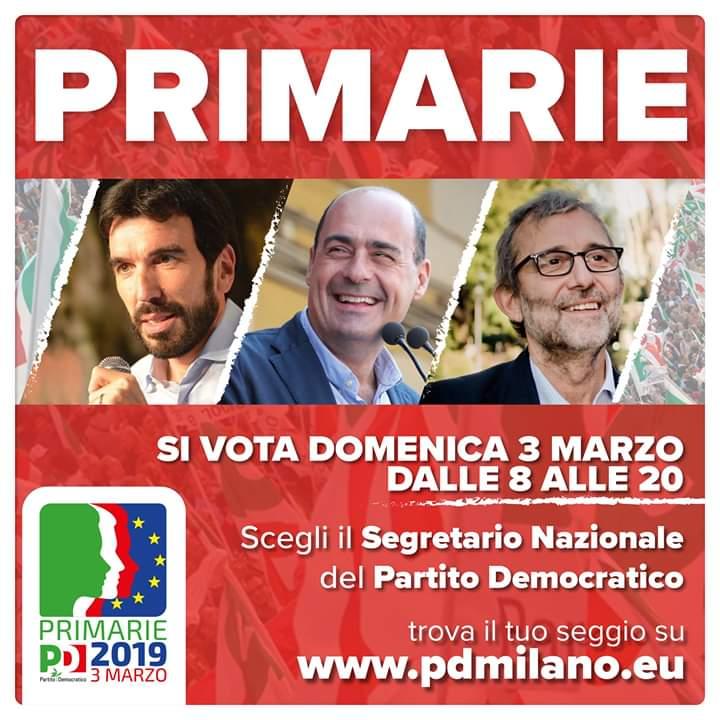 Barcellona PG. Alla Ex Pescheria si vota per le Primarie del PD: Martina, Zingaretti o Giachetti?