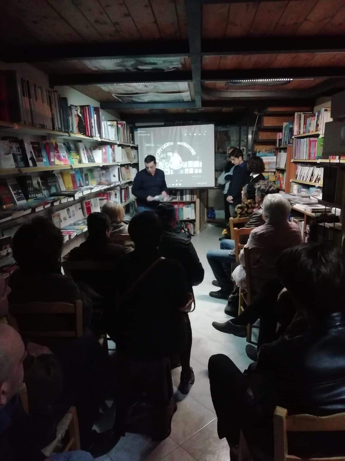 Barcellona PG. Omaggio a Lawrence Ferlinghetti alla Libreria Gutenberg