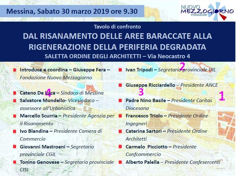 Messina. Il risanamento della città,  dalle baracche alle periferie: la fondazione Nuovo Mezzogiorno chiama a raccolta tutti per discutere sul da farsi