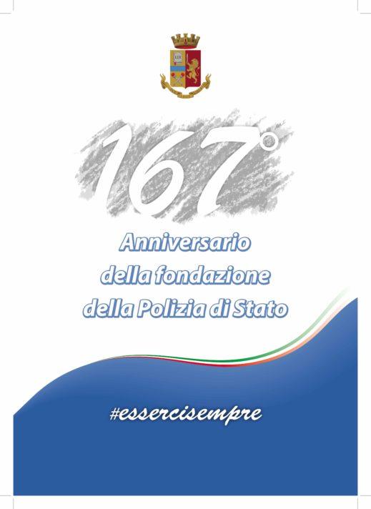 Tutto pronto per il 167° Anniversario della fondazione della Polizia di Stato