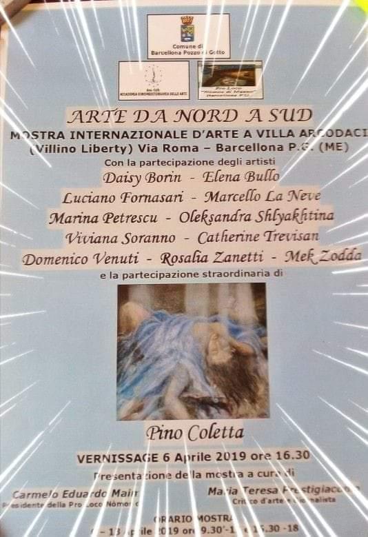"""Barcellona PG. La Mostra Internazionale """"Arte da Nord a Sud"""" al Villino Liberty """"Foti-Arcodaci"""""""