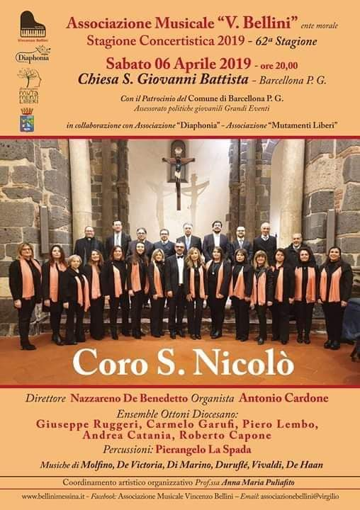 """Barcellona PG. Il Concerto del """"Coro S. Nicolò"""" nell'antica Chiesa di San Giovanni"""