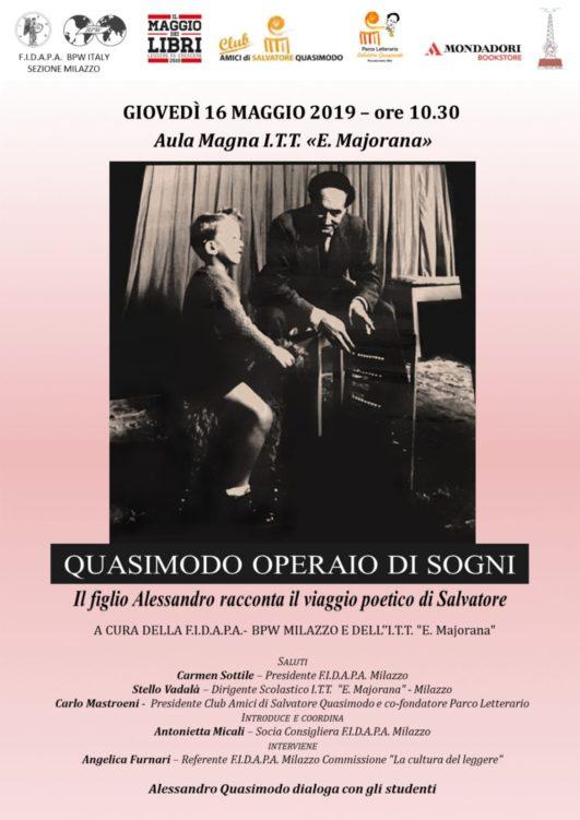 """Milazzo. """"Maggio dei Libri"""", domani mattinata dedicata a Quasimodo"""