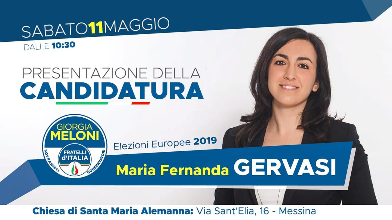 Elezioni Europee 2019. Maria Gervasi lancia la sfida, si presenta sabato a Messina