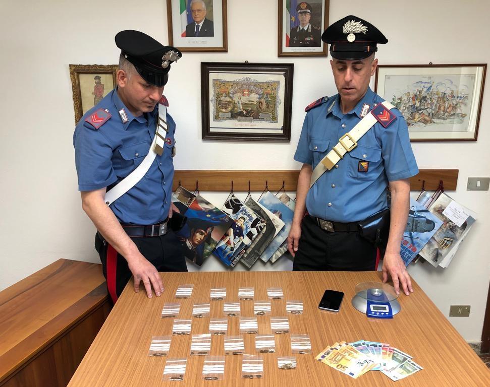 Furnari. Sorpreso nel parco con 22 dosi di sostanza stupefacente, arrestato dai Carabinieri