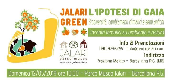 """Barcellona PG. Dal progetto Jalari Green """"L'Ipotesi di Gaia: Biodiversità, semi antichi e cambiamenti climatici"""""""