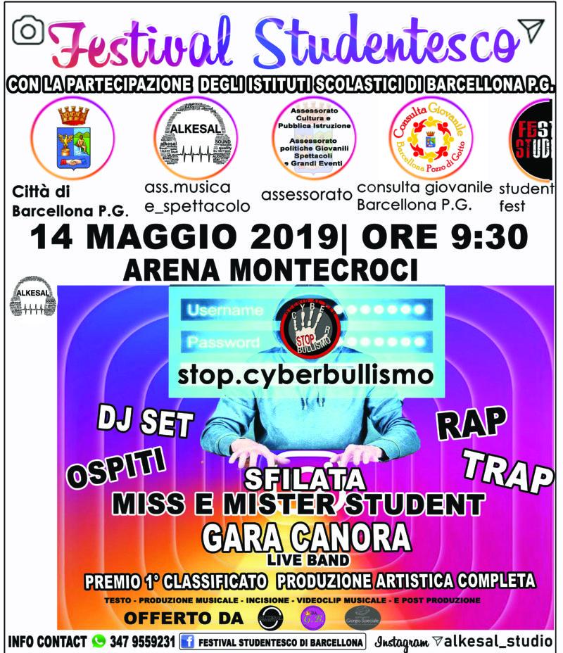 Barcellona PG. Ritorna il 'Festival Studentesco' per dire Stop cyberbullismo