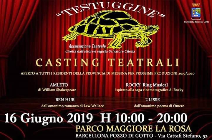Barcellona PG. Nuovi casting teatrali per 4 spettacoli, domenica 16 al Parco 'La Rosa'