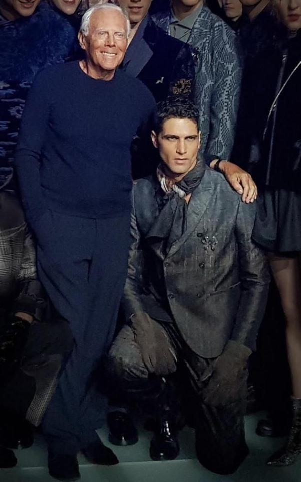 Da tutto il mondo per la moda maschile di Giorgio Armani con il top model Fabio Mancini