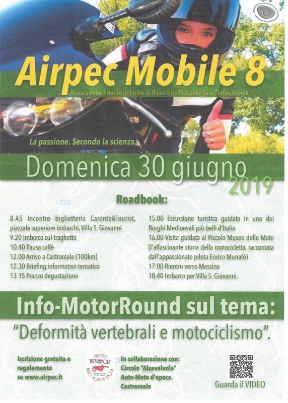 Castroreale. L'Airpec Mobile 8 in visita al Piccolo Museo della Moto, giornata tra sociale, degustazioni e motori