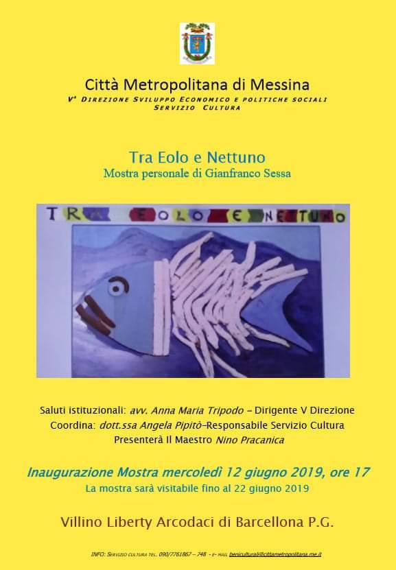 """Barcellona PG. La Mostra Personale """"Tra Eolo e Nettuno"""" di Gianfranco Sessa al Villino Liberty"""