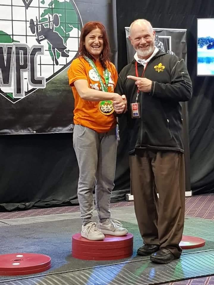 Limerick (Irlanda). Cristina Catalfamo ottiene record mondiale e vince cat. master agli Europei di powerlifting