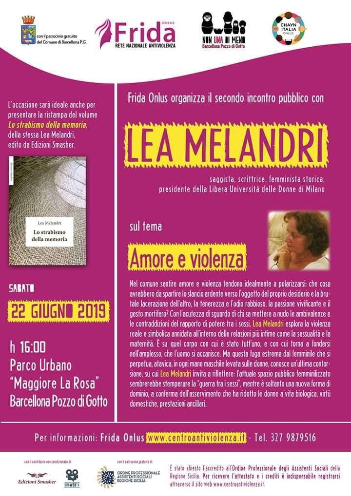 Lea Melandri, storica figura del femminismo, a Barcellona Pozzo di Gotto