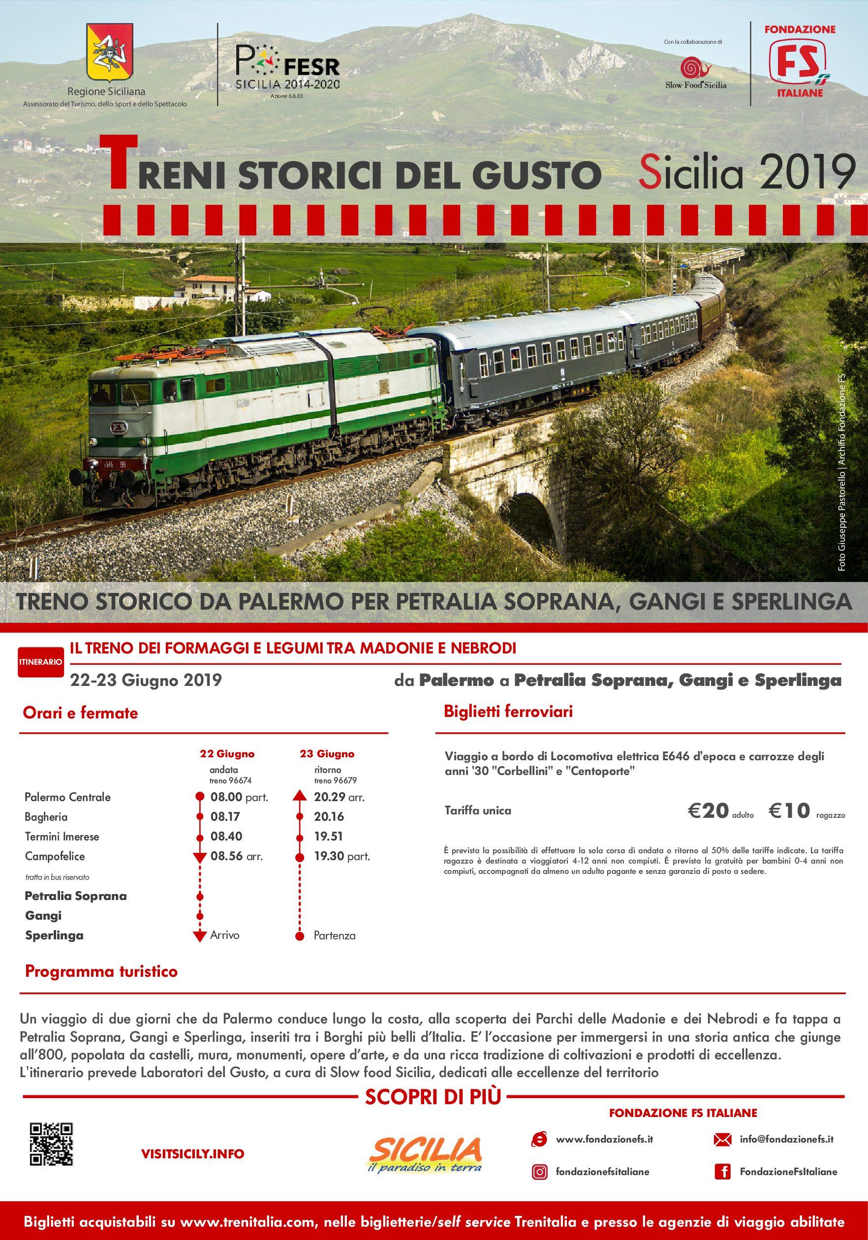 Weekend in treno storico alla scoperta dei borghi più belli della Sicilia tra Nebrodi e Madonie