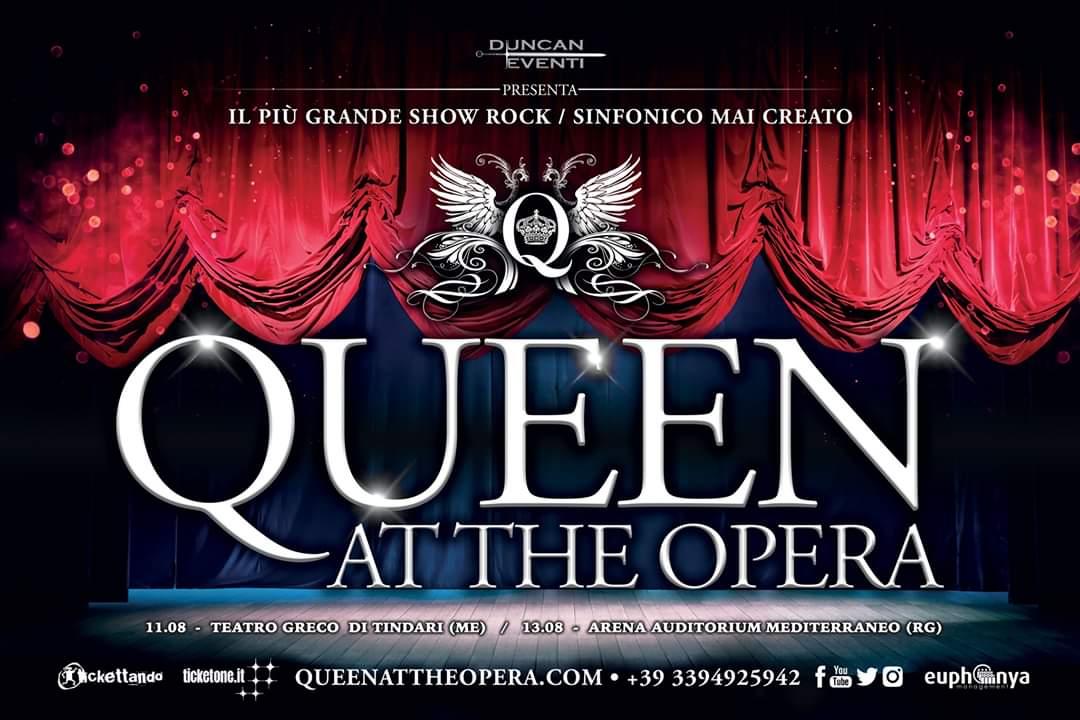 """Debutta a Tindari """"Queen at The Opera"""", l'unico concerto-show sulle musiche della band inglese"""