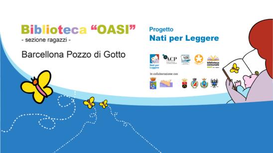 Barcellona PG. Inaugurazione progetto locale 'Nati per Leggere' per sensibilizzare alla lettura da 0 a 6 anni