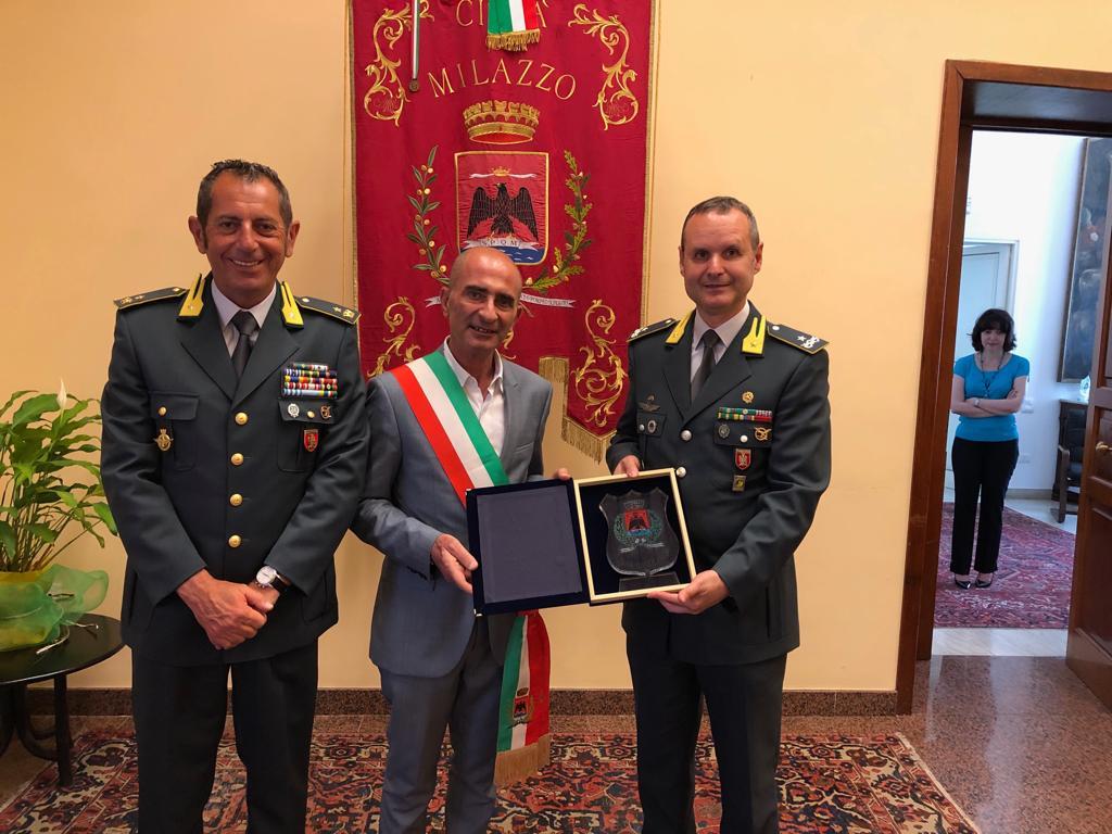 Visita istituzionale del comandante provinciale della Guardia di Finanza di Messina