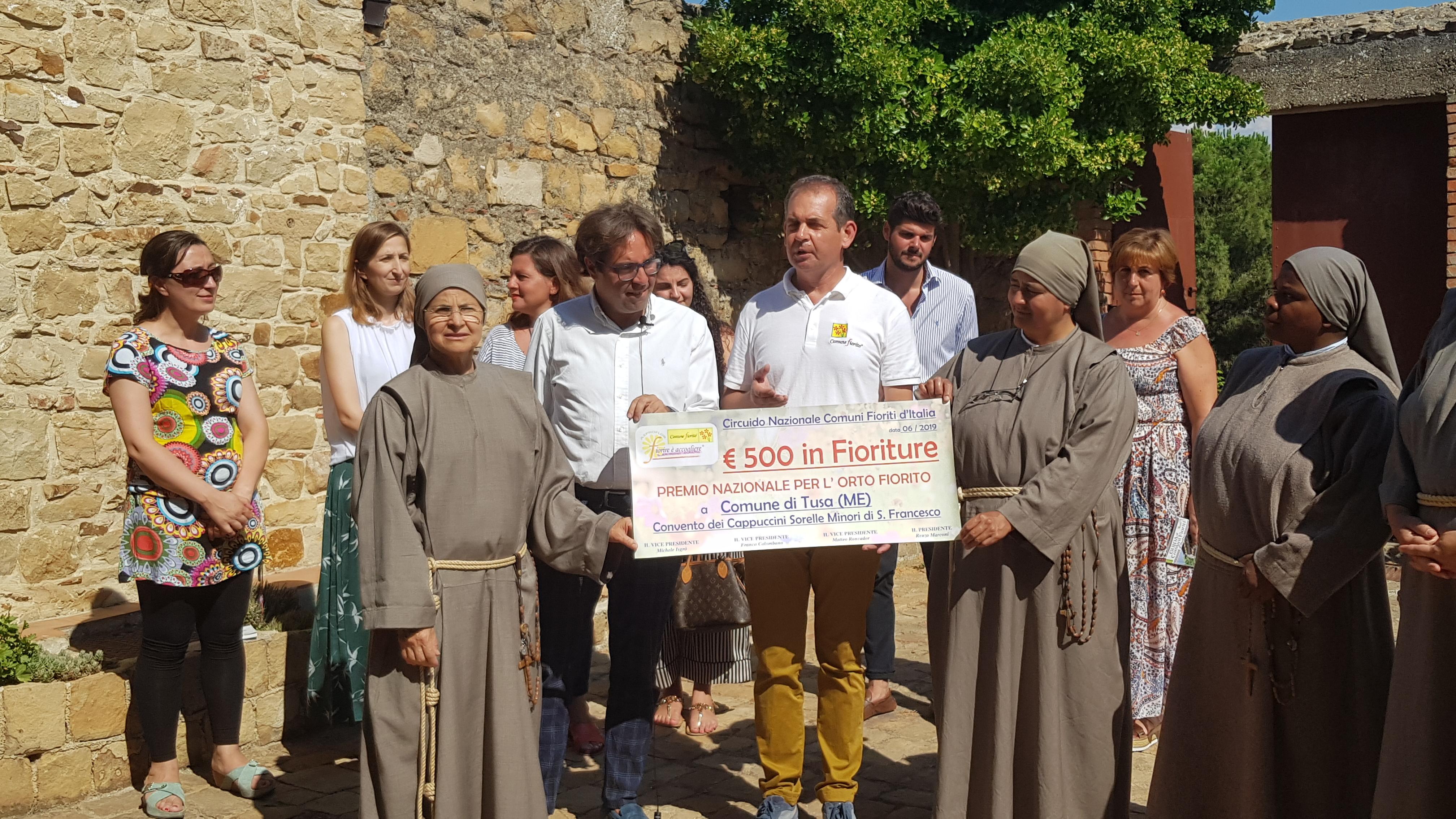 Tusa, consegnato il premio nazionale Comuni Fioriti al Convento Cappuccini