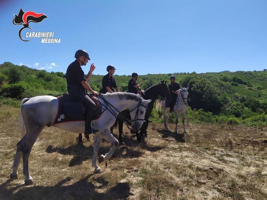 Parco dei Nebrodi. Intensificati servizi di prevenzione dei Carabinieri con l'ausilio del 4° Reggimento Carabinieri a Cavallo
