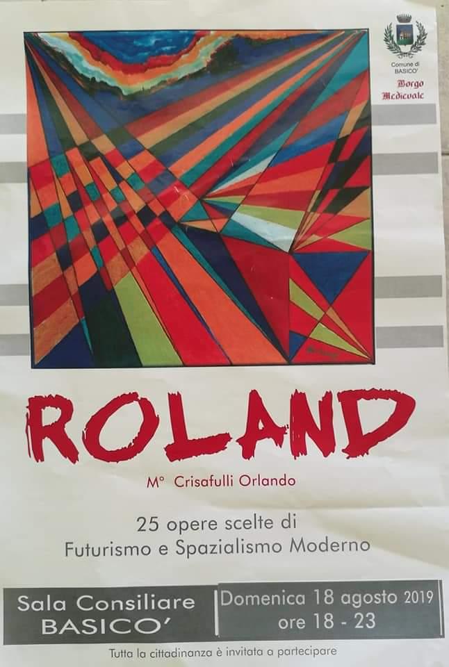 Basicò. Mostra di Pittura dell'artista Orlando ROLAND Crisafulli nella Sala Consiliare
