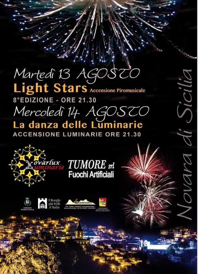 """Novara di Sicilia. """"Light Stars"""" e """"Danza delle Luminarie"""". Magicamente """"si accende"""" la festa nel borgo"""