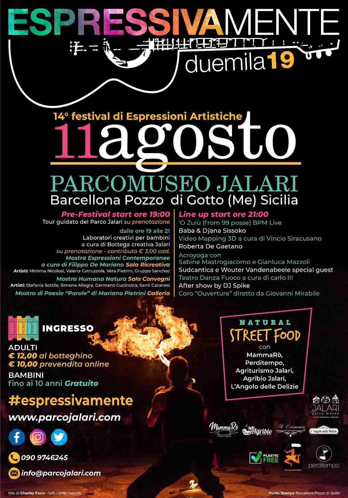 Barcellona PG. IlFestival EspressivaMente 2019 al Parco Museo Jalari