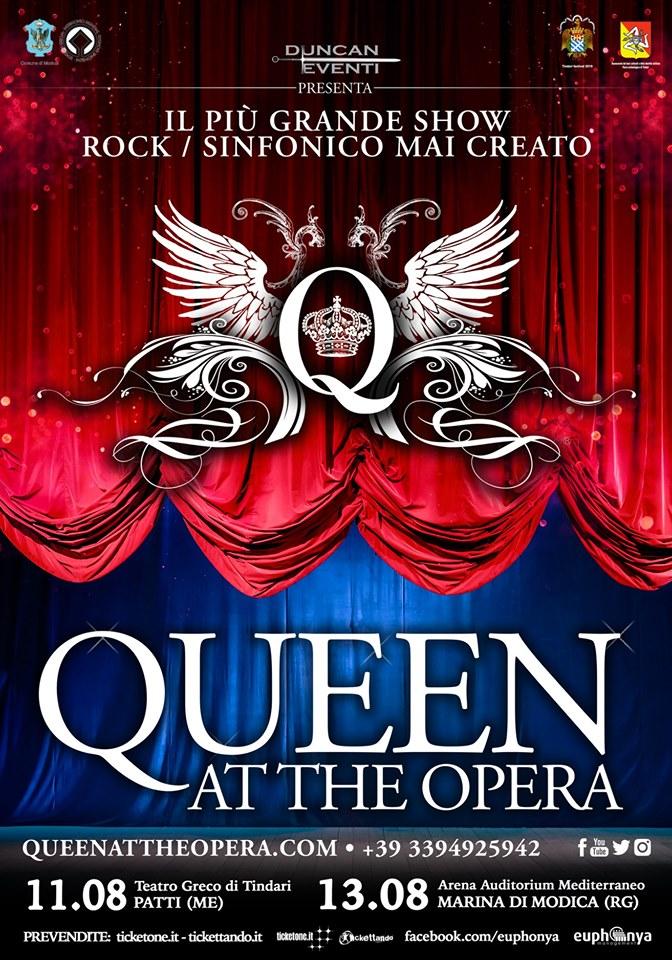 """Tindari Festival ospita """"Queen at the Opera"""", l'unico concerto-show dedicato alla band di Freddie Mercury"""