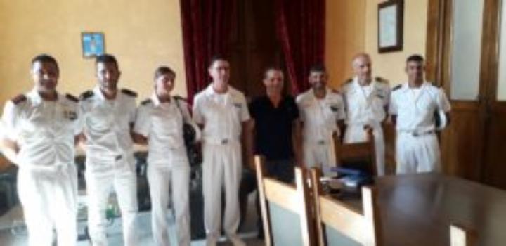 Messina. Visita istituzionale dei comandanti della nave Palinuro e della Base della Marina Militare